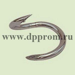 Носовое кольцо для быка S-образное, внутренний диаметр 57 мм, никель