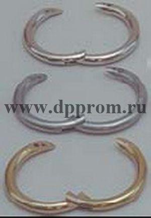 Носовое кольцо для быка W-образное, внутренний диаметр 53 мм, никель
