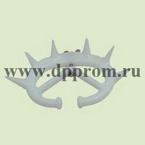 Носовое анти-молочное кольцо с шипами для телят, пластиковое, малое, белого цвета