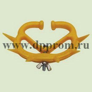 Носовое анти-молочное кольцо с шипами для телят, пластиковое, среднее, желтого цвета
