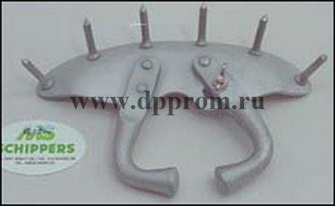 Носовое анти-молочное кольцо с шипами для телят, алюминиевое
