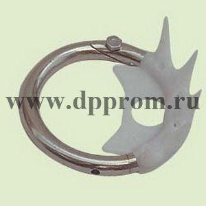 Носовое анти-молочное кольцо металлическое, с пластиковыми шипами для телят