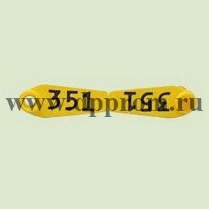 Бирки Примафлекс № 0, с нумерацией, 50 шт. в упаковке
