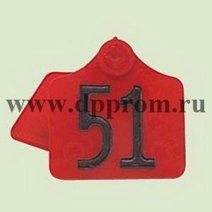 Бирки Примафлекс № 1, с нумерацией, 50 шт. в упаковке