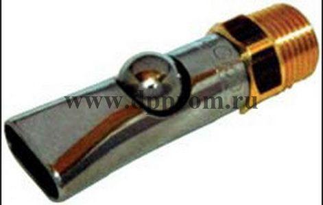 """Шаровая поилка для поросят, диаметр 3/8"""", длина 66 мм, нерж.сталь / латунь. Соединение с водопроводной трубой 1/2 """""""