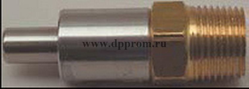 """Нажимная поилка, 3/8"""", нерж.сталь / латунь, длина 53 мм."""