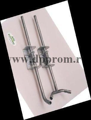 Опора для ниппеля, с пружиной, труба из нержавеющей стали, на 2 ниппеля