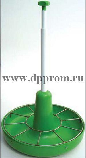 Кормушка для престартерных комбикормов, без накопительного бункера, зеленого цвета