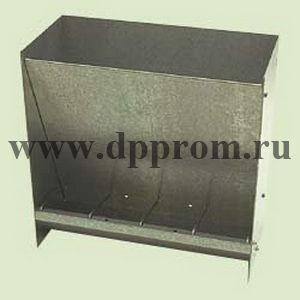 Кормушка для поросят, объем 25 кг., 4 кормовых места, оцинкованный металл