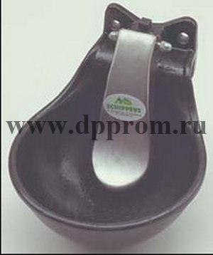 """Чашечная поилка для телят и лошадей, металлическая, цвет черный, соединение 1/2"""""""
