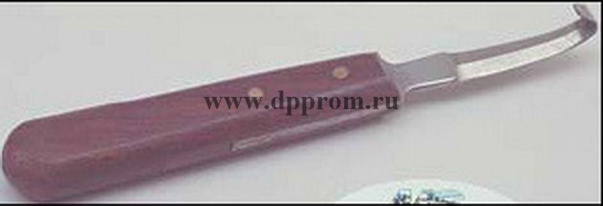 Копытный нож для овец, двойная заточка, деревянная ручка