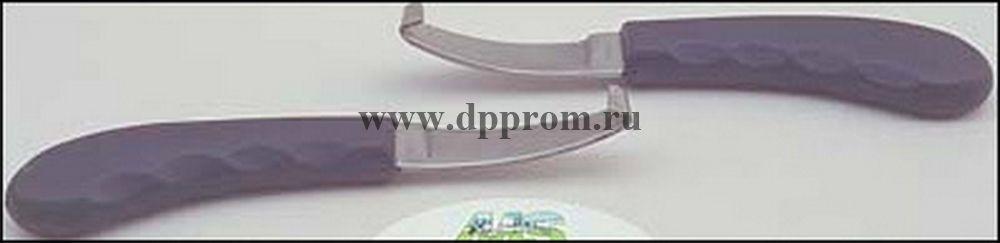 Копытный нож МС, левая заточка, пластиковая ручка