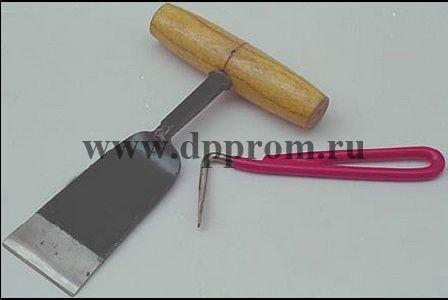 Копытный шпатель с ручкой для лошадей