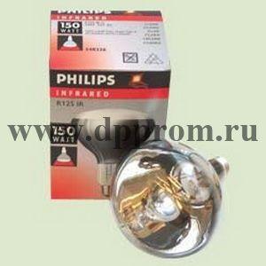 Инфракрасная лампа для обогрева Филипс, белая, 150 Вт.