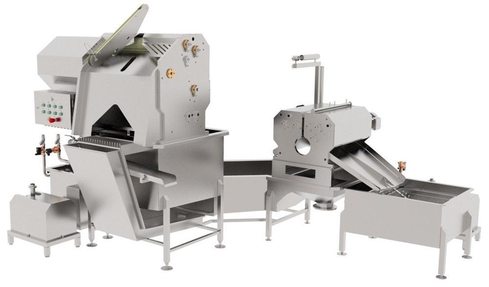 Автоматические и полуавтоматические, комбинированные линии (машины) для обработки черевы свиней/КРС/МРС BW-MCU