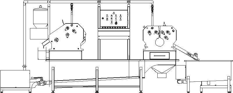 Полуавтоматическая линия для обработки черевы свиней/МРС BW-MCP