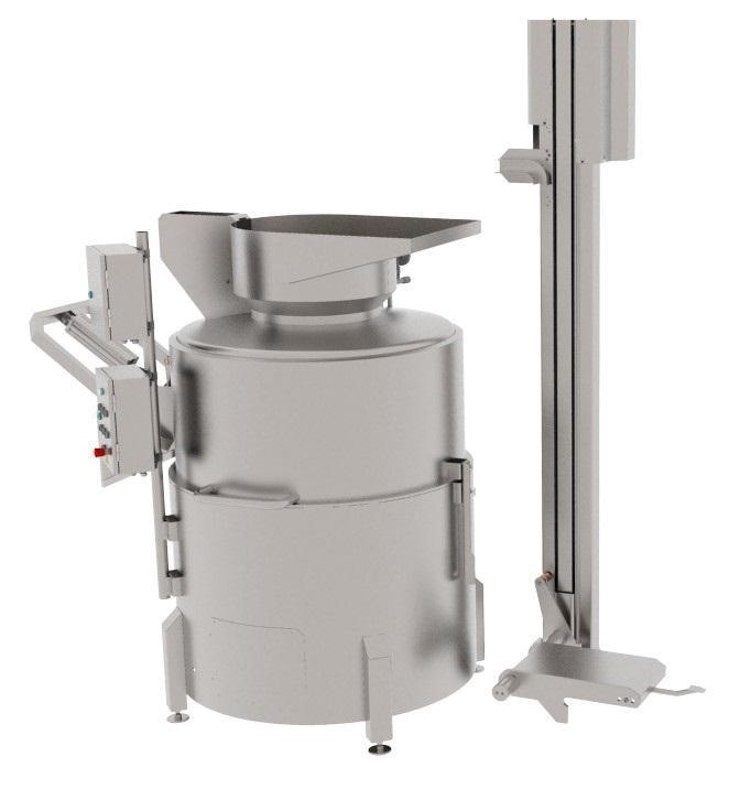Центрифуга для обезволашивания голов, ног, лобаша КРС, свинных ног, голов, ушей и хвостов BW-WCD