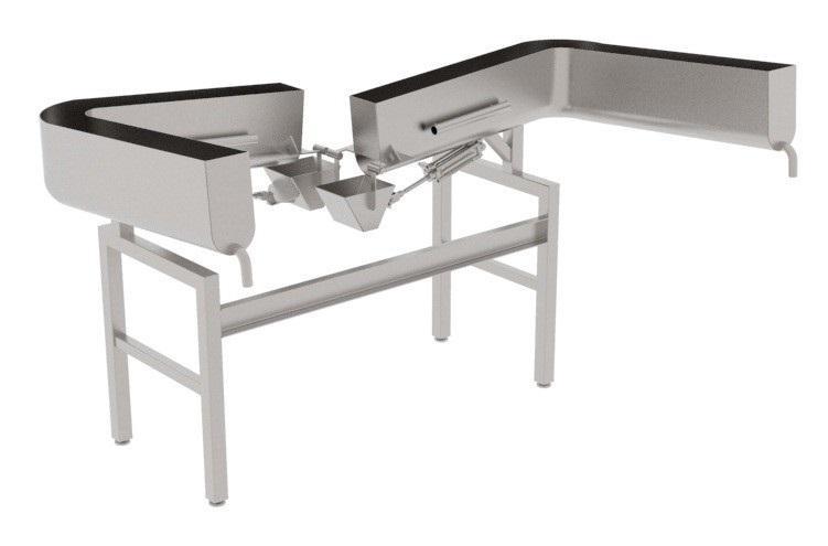 Автоматический пневмозагрузчик черевы свиней на один или два потока BW-CP