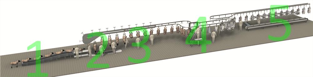 Комплексные установки и системы для убоя овец