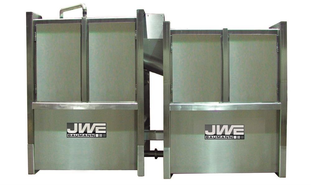 Машина для обезволашивания непрерывного действия JWE CDM