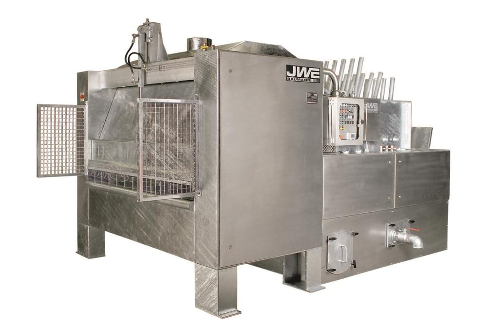 Двухвалковая скребмашина с автоматическим проходным шпарчаном JWE SDM 50-160