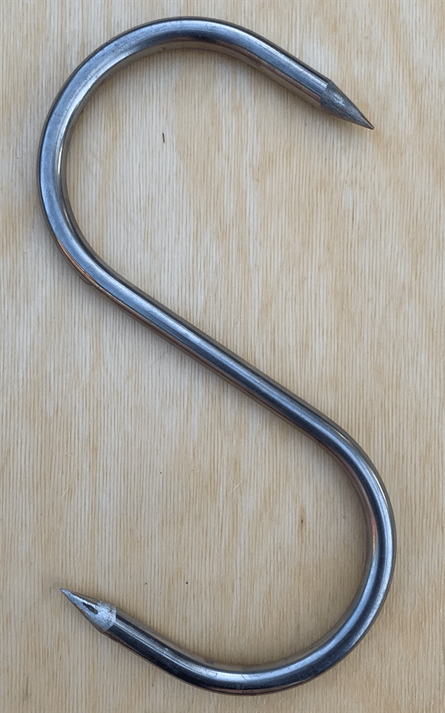 Крюк для мяса s-образной формы 8 мм.