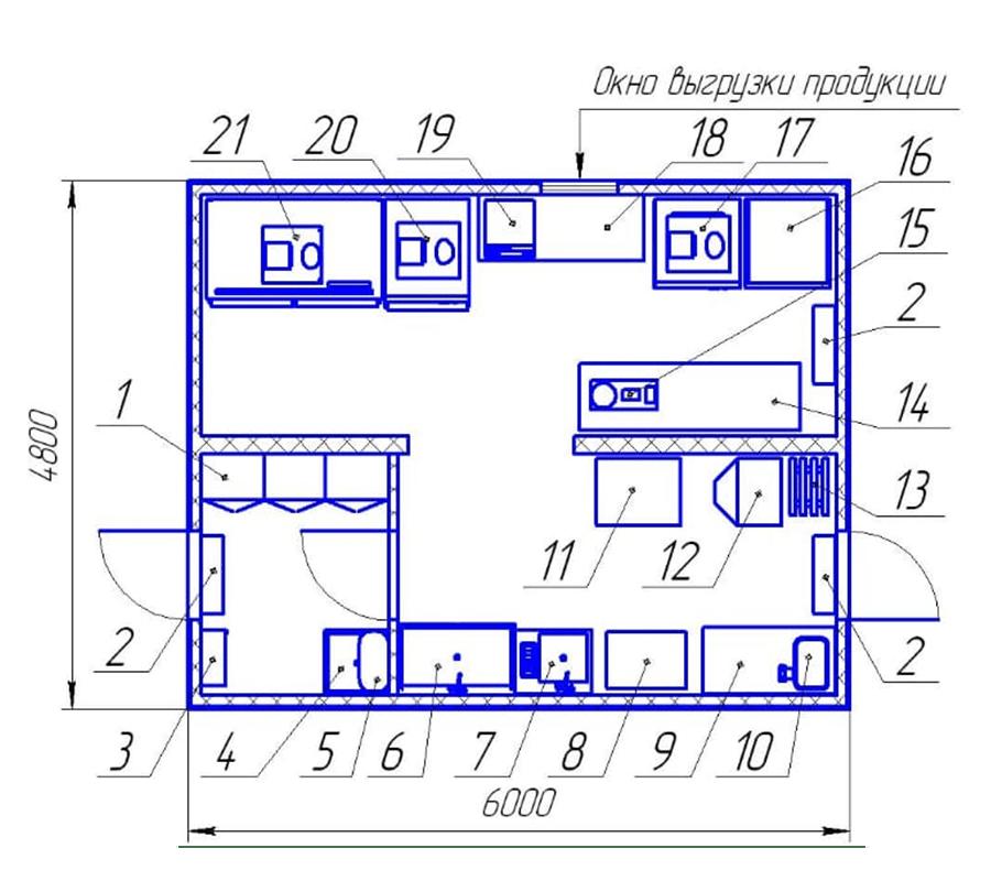 Модульный цех для изготовления пельменей